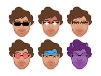 Self Portrait Emoji Icons