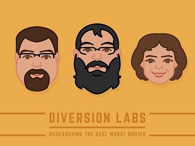 Diversion Labs Movie Group Faces Vol: 2 graphic character bright icon face drawing color self portrait selfie portrait illustration