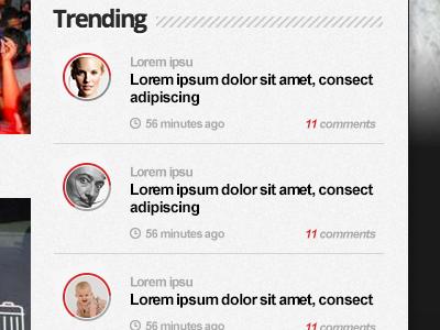 Trending Module ui web interface