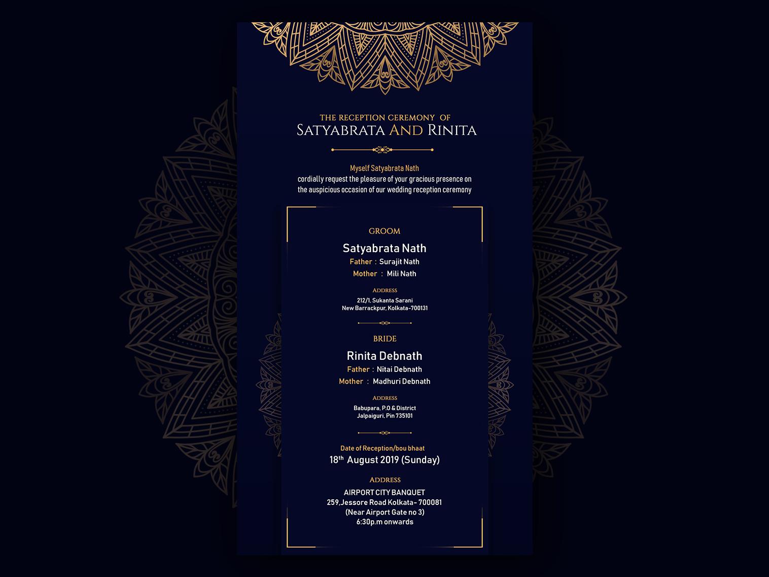 Wedding card design graphics design graphics designs wedding card reception wedding font calligraphy card design card