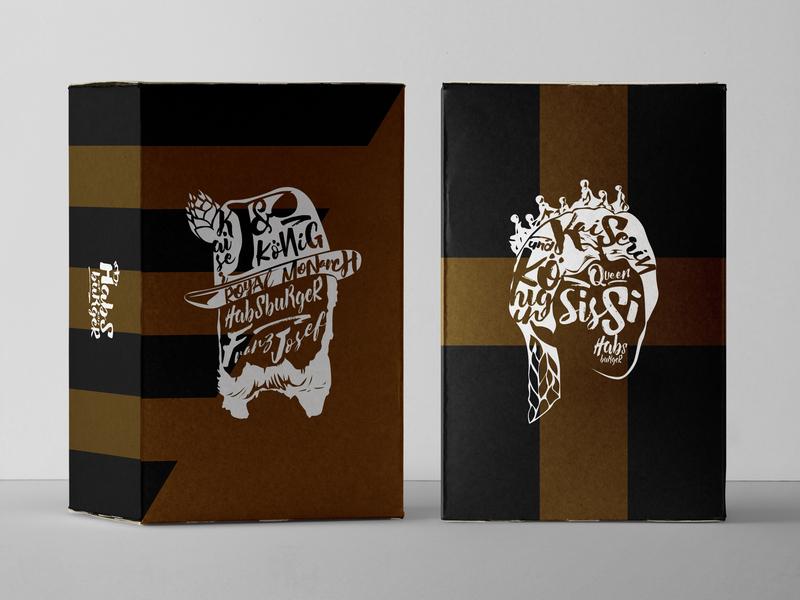 Habsburger Cardboard Box Packaging vintage design vintage badge vintage logo graphic  design logo layout design layout vector typography branding design branding and identity branding illustration restaurant branding fmcg spices box design packaging packaging design