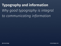 Typography and information