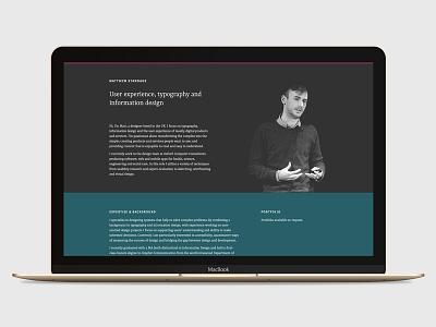 Personal website website minimal typography