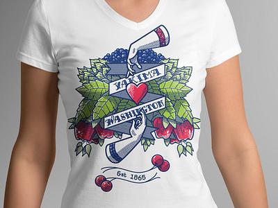City t-shirt design fruit illustration fruit plants vector illustration digital illustration design apparel graphics apparel mockup apparel design apparel design illustration