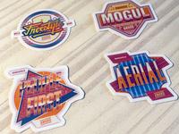Award Stickers custom type lettering award design award badge design badges badge sticker design stickers sticker