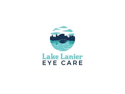 Lake Lanier Eye Care Logo graphic design design logo design identity branding lake optometry eye logo
