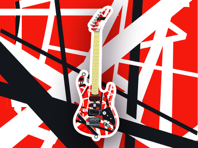Lords of Sound: Van Halen design rock n roll vector illustration guitar sticker music