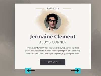 Author Card visual design card layout type ui ux box delivery startup book literature web design