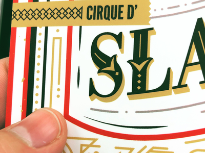 Slalom Holiday Invite design typography lettering cirque circus christmas invitation print invite holiday