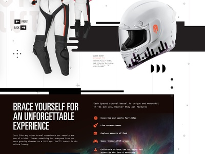 Spaced Revision homepage visual design ux ui web design web travel outerspace space