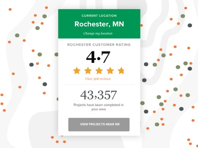 Rating And Review Card social interaction reviews ratings map web design web ux visual design ui