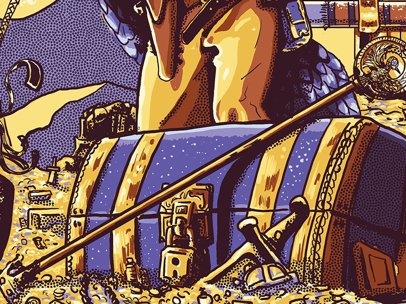 Treasure Chest detail movie indiana jones screen print movie poster poster photoshop illustration
