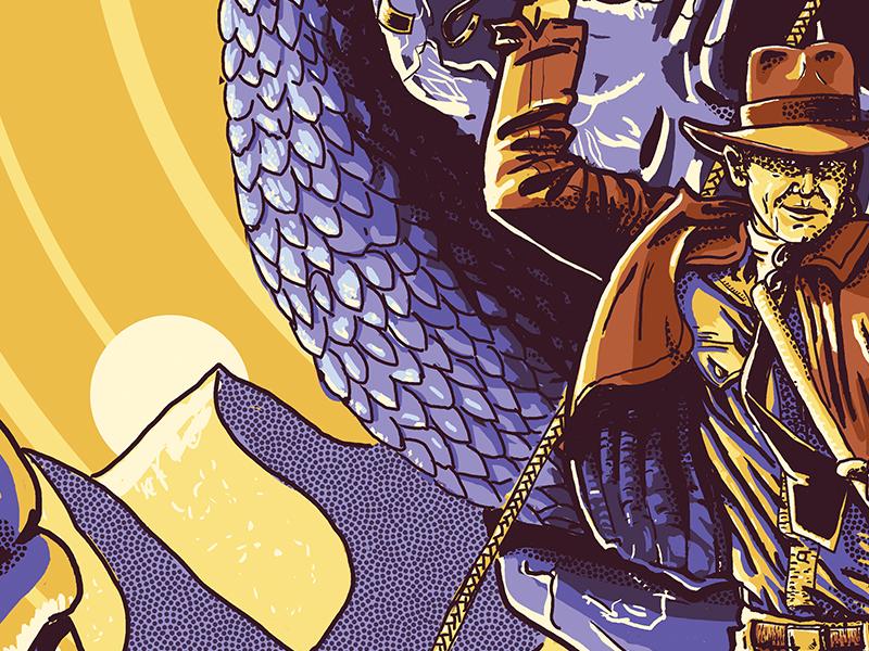 Poster Detail: Dunes screenprint dunes scales snake indiana jones illustration poster
