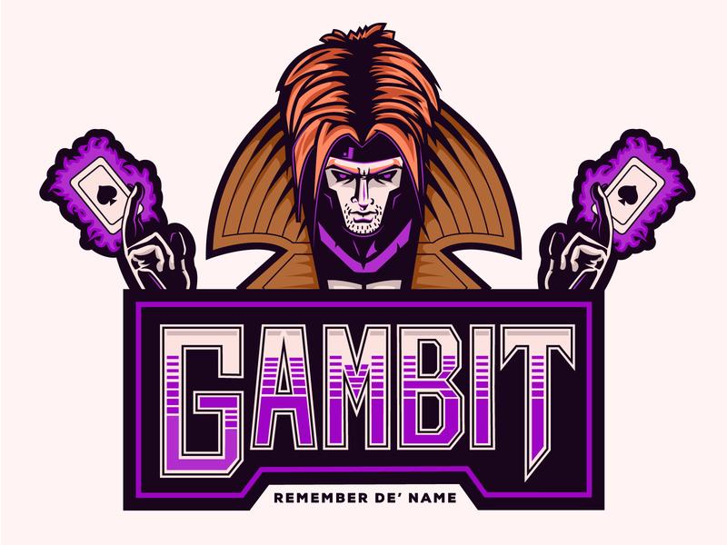Gambit Badge HiDef by ᴡᴀᴛᴛʟᴇ ᴀɴᴅ ᴅᴀᴜʙ on Dribbble