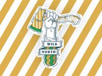 Wild North Sticker