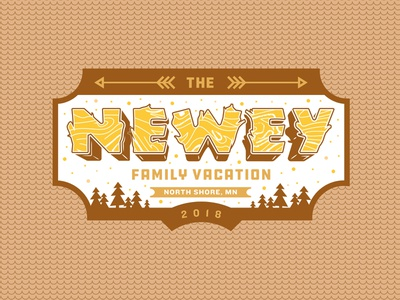 Reunion Logo reunion apparel tshirt vacation outdoors woods minnesota north shore camping family reunion branding illustration