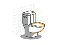 Spot Illustration: Toilet