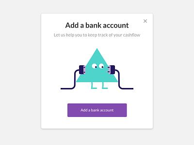 Adding a bank account character mascot management hr