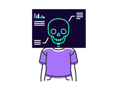Understanding people user xray graph skull character persona person