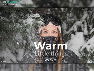Winter Sell | eCommerce Website Development app web website ux ui app branding buy online winter ecommerce app design