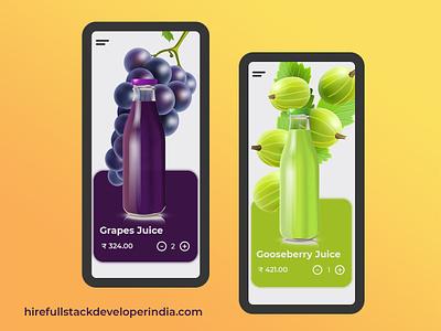 Online Juice Store app web ui ux design app android app development illustration design agency website design