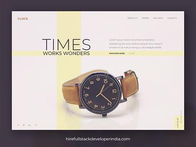 Buy Clock Online userinterfacedesign userexperiance appdevelopment appdesigner web illustration design design agency website ux ui