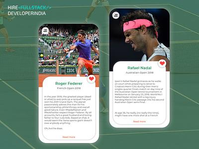 UI Challenge Tennis Court sport branding tennis user interface design apps screen apps design apps design.interaction web 2.0 user center design ui illustration design app design agency website ux design