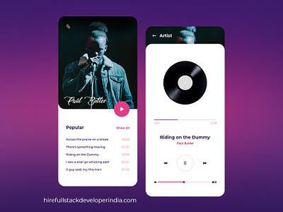 Music App Design app branding appdevelopment web animation vector logo branding illustration design app design agency website ui ux design