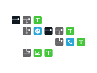 Path Glyphs™ icons paths conditionals if else arrows blocks