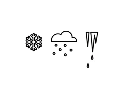 The weather outside is frightful... icicle snow snowflake illustration icon
