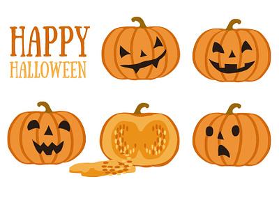 Happy Pumkins crop happy illustration orange pumpkin halloween