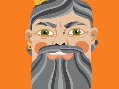 King of the Woods king beard illustration spirit