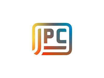 J**** Private Cloud polished structure schema gradients trendy private platform cloud logo