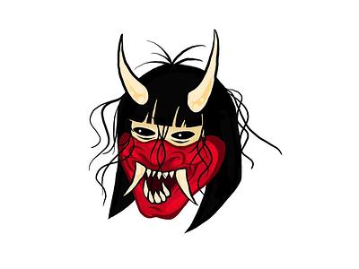 Hannya Mask mask hannya mask japanese ipad pro. japan