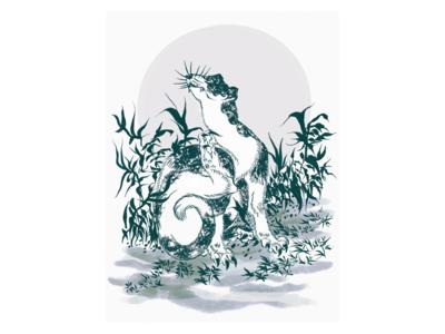Hokusai Animal Manga tribute