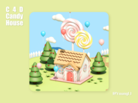 C4D practice - Candy House