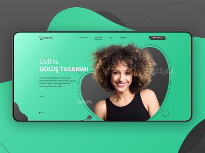 Dentos — Branding & Website logo clinic dental branding website web design ux ui