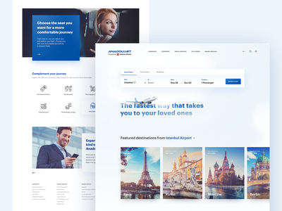 AnadoluJet Airlines — Redesign Concept turkish airlines airlines anadolujet concept redesign website ux ui
