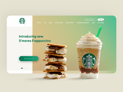 Starbucks — Landing Page Redesign website design starbucks redesign website concept ux ui landing page coffee homepage