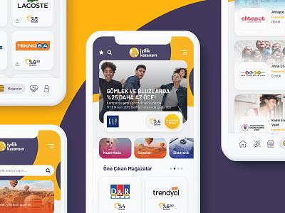 İyilik Kazansın - Social Responsibility App mobile design app ux ui
