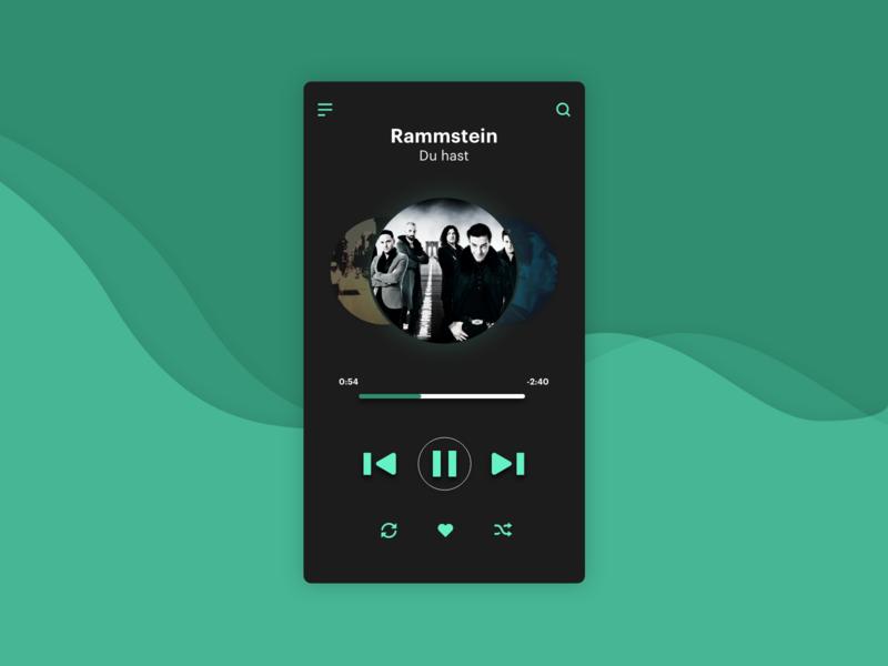 DailyUI : 009 // Music Player app ux ui dailyui adobe xd