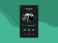 DailyUI : 009 // Music Player