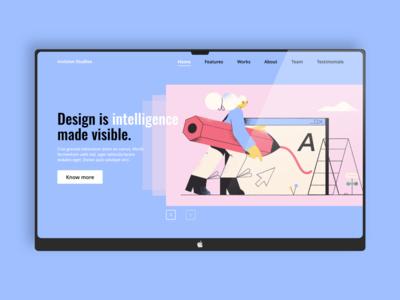 Website banner concept - Invision Studios