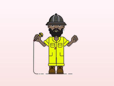 Shamon Cassette illustrator design character flat 2d vector