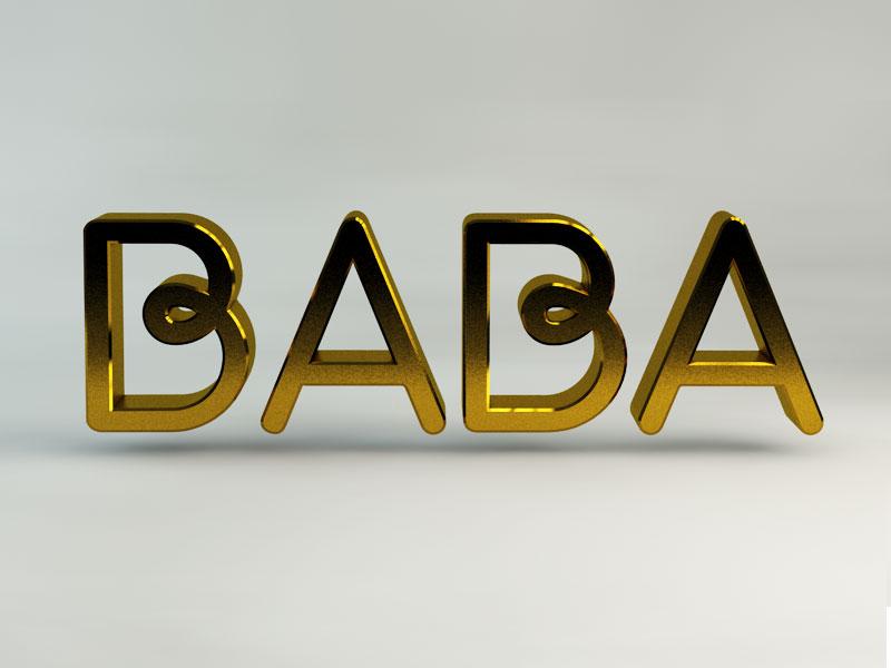 Baba Logo musician brandmark identity logo branding
