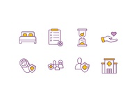 Health insurance icon set