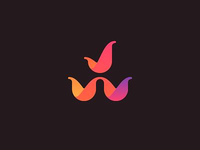 JW gradient floral logo