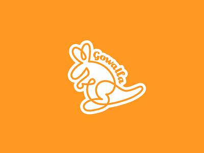 Gowalla sticker orange startup tech logo