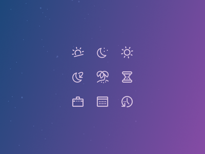 Astro 01 email space gradient icons