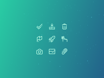 Astro 03 email space gradient icons